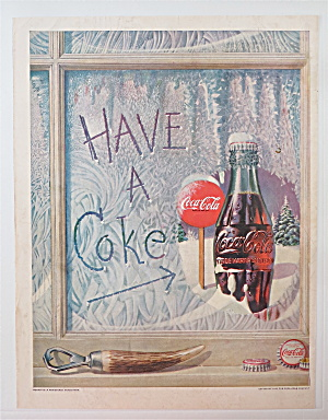1952 Coca Cola (Coke) W/bottle Sitting On Window Ledge