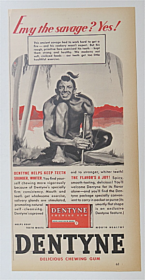 1937 Dentyne Gum with Envy The Savage  (Image1)