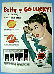 Vintage Ad: 1952 Lucky Strike Cigarettes (Image1)