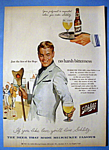 1954 Schlitz Beer with Man Playing Shuffle Board (Image1)