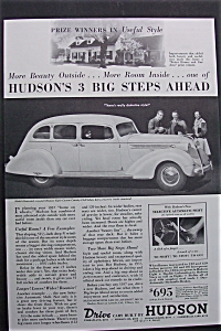 1937 Hudson Cars with Hudson's 3 Big Steps Ahead (Image1)