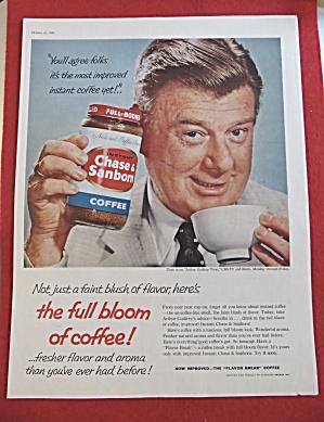 Vintage Ad:1958 Chase & Sanborn Coffee w/Arthur Godfrey (Image1)