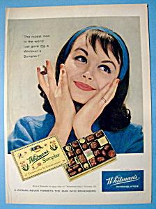 1958 Whitman's Sampler Chocolates with Woman Smiling (Image1)