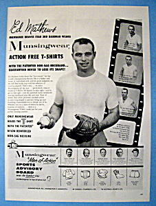Vintage Ad: 1958 Munsingwear with Ed Mathews (Image1)