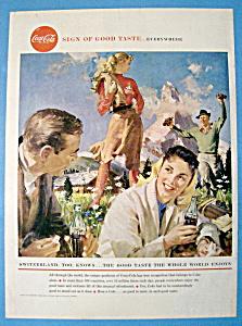 1958 Coca Cola (Coke) with Switzerland Too Knows (Image1)