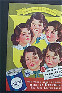 1937 Karo Syrup With Dionne Quintuplets