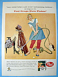 1958 Post Grape Nuts Flakes W/woman By Dick Sargent