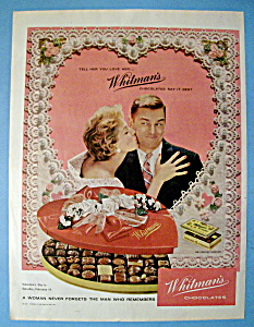 1959 Whitman's Chocolates with Woman Giving A Kiss (Image1)