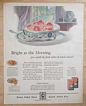 1924 Quaker Puffed Wheat with Bowl Of Cereal  (Image1)