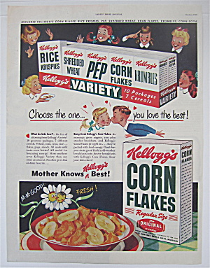 1948 Kellogg's Corn Flakes With The Variety Pack