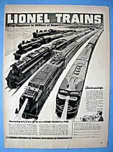 Vintage Ad: 1948 Lionel Trains (Image1)
