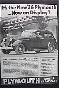 1935 Plymouth Cars w/Black & White Picture of Plymouth (Image1)