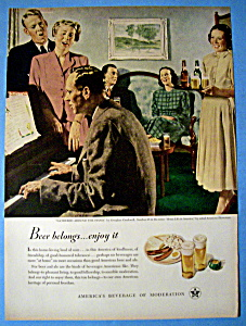 1949 Beer Belongs with Gathered Around the Piano  (Image1)