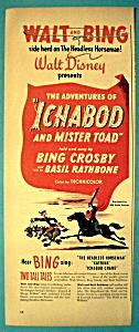 1949 Walt Disney Ichabod & Mister Toad with Crosby (Image1)