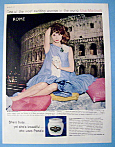vintage ad 1960 ponds cold cream w elsa martinelli