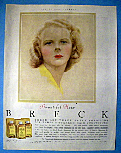 1952 Breck Shampoo w/Blue Eyed Breck Woman (Image1)