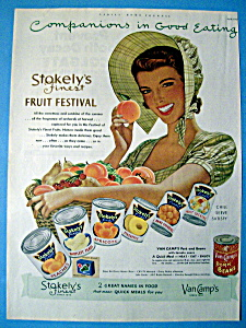 Vintage Ad: 1952 Stokely's Canned Fruits (Image1)