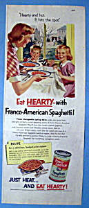 Vintage Ad: 1952 Franco American Spaghetti (Image1)