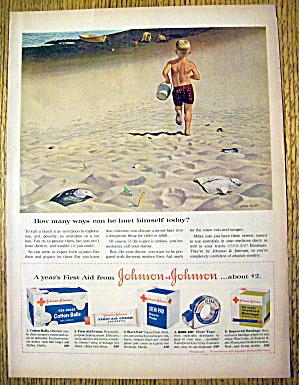 1959 Johnson & Johnson w/Boy on Beach By John Falter (Image1)