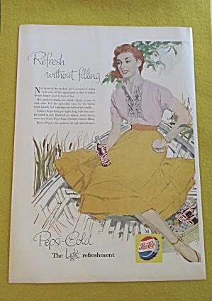 1956 Pepsi Cola (Pepsi) w/Woman Holding a Bottle (Image1)