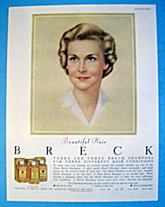 1960 Breck Shampoo with Lovely Brown Haired Woman (Image1)