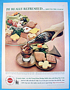 1960 Coca Cola (Coke) With Sandwiches & Vegetables