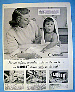 Vintage Ad: 1956 Linit Starch W/ Dorothy Collins