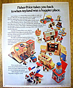 1970 Fisher Price Toys With Jet Plane, Garage & More