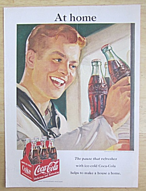 1951 Coca Cola (Coke) with Sailor Grabbing a Bottle  (Image1)
