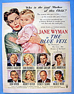 Vintage Ad: 1951 The Blue Veil With Jane Wyman