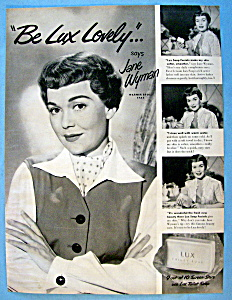 Vintage Ad: 1951 Lux Soap With Jane Wyman