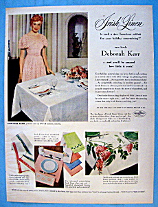 1951 Irish Linen with Actress Deborah Kerr (Image1)