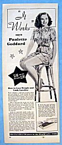 Vintage Ad: 1951 Ayds Reducing Plan w/ Paulette Goddard (Image1)