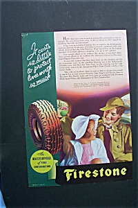 1936 Firestone Tires with Woman & Girl Sitting in Car (Image1)