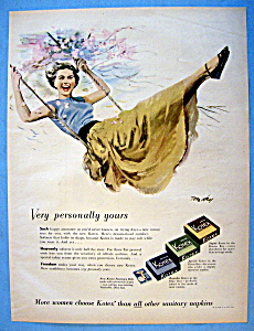 Vintage Ad: 1951 Kotex (Image1)