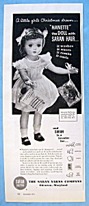 Vintage Ad: 1951 Nanette The Doll with Saran Hair (Image1)