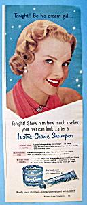 Vintage Ad: 1951 Lustre Creme Shampoo (Image1)