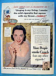 Vintage Ad: 1951 Camel Cigarettes w/ Marguerite Piazza (Image1)