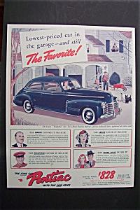 1941 Pontiac Cars w/ Pontiac De Luxe Torpedo Six Sedan (Image1)