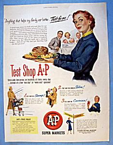 Vintage Ad: 1951 A & P Supermarkets (Image1)
