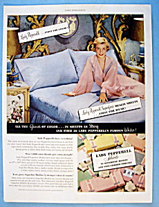 Vintage Ad: 1951 Lady Pepperell Sheets