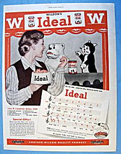Vintage Ad: 1951 Wilson's Ideal Dog Food (Image1)