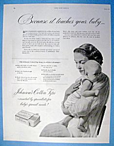 Vintage Ad: 1951 Johnson's Cotton Tips (Image1)