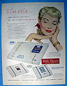 Vintage Ad: 1951 Bibb Sheets (Image1)