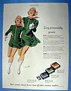 Vintage Ad: 1951 Kotex Sanitary Napkins By Tom Hall (Image1)