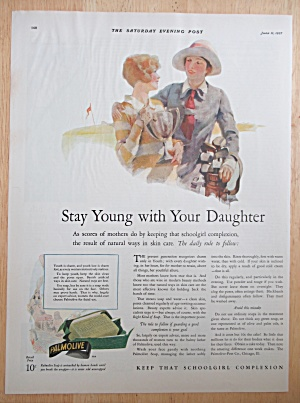 1927 Palmolive Soap With Stay Young With Your Daughter