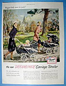 Vintage Ad: 1951 Thayer Dreamliner Carriage Stroller (Image1)