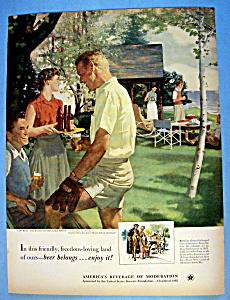 1952 Beer Belongs with Saturday Afternoon On Lake (Image1)