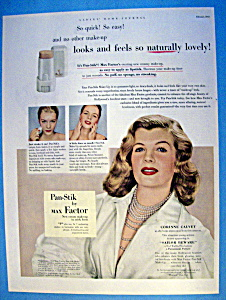 Vintage Ad: 1952 Max Factor With Corinne Calvet