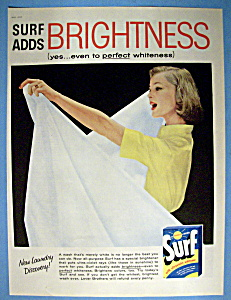 1957 Surf Detergent w/Woman Looking at White Bed Sheet (Image1)